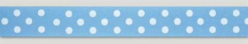 Blue Allure Polka Dot Ribbon - 24mm